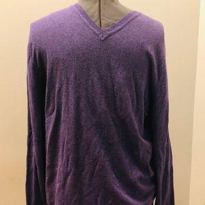 Men's purple Banana Republic V- neck sweater